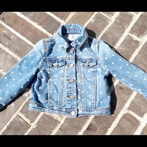 Gap polka dot jean jacket - 2t